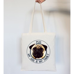 Totebag DOG FAMILY Pug