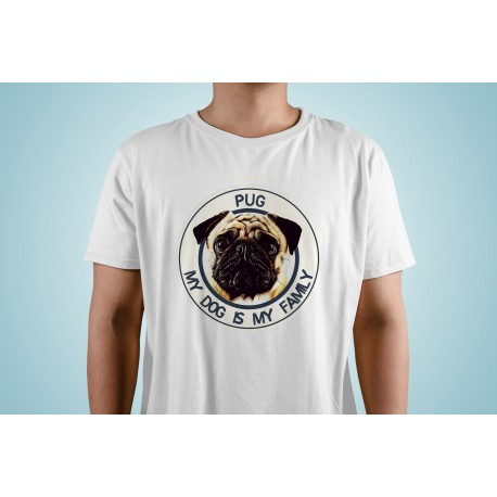 "Camiseta ""Dog Family"" Pug"