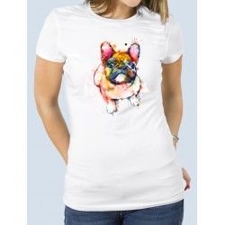 "Camiseta ""Watercolor"" Bulldog"