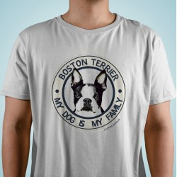 "Camiseta Boston Terrier ""Dog Family"""