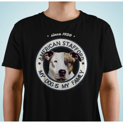 "Camiseta American Stafford ""Dog Family"""